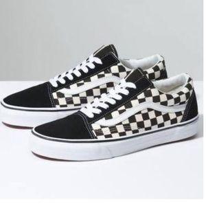 Vans Old Skool checker lite black white sneaker sh